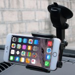 SHUNWEI SD-1121B Car Auto Multi-functional Adjustable Arm Double Layer PU Base Phone Mount Holder for Most of Phone and GPS Leng