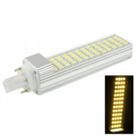 G24 12W Warm White 52 LED 5050 SMD LED Transverse Light Bulb, AC 220V