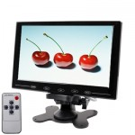 9.0 inch Ultra-thin Touch Button Car Monitor with Remote Controller(Black)