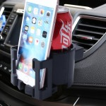 SHUNWEI SD-1026 Car Auto Multi-functional ABS Air Vent Drink Holder Bottle Cup Holder Phone Holder Mobile Mount(Black)