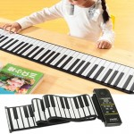 Clavier Piano Flexible 88 touches MIDI Portable Roll Up 133 x 14,2 x 0,6 cm - Wewoo