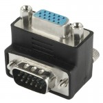90 Degree VGA 15 Pin Male to Female Right Angle Adapter