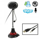 5.0 Mega Pixels USB 2.0 Driverless PC Camera / Webcam with MIC and 4 LED Lights, Cable Length: 1.2m