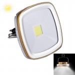 3W 270 LM Solar Panel Rechargeable White Light Outdoor Camping Light Emergency Light with Handle, DC 5V(Gold)