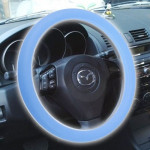 Silicone Rubber Car Steering Wheel Cover, Outside Diameter: 36cm(Blue)