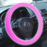 Silicone Rubber Car Steering Wheel Cover, Outside Diameter: 36cm(Pink)
