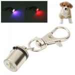 New Style Cylinder Shaped Pet Dog Two Colors Blinking Pendant Hanging Ornament(Grey)