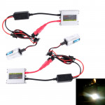 DC12V 35W 2x H4 Slim HID Xenon Light, High Intensity Discharge Lamp, Color Temperature: 6000K