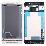 iPartsBuy for HTC One M9 Front Housing LCD Frame Bezel Plate (Gold on Silver)