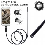 2 in 1 Micro USB & USB Endoscope Waterproof Snake Tube Inspection Camera with 6 LED for Newest OTG Android Phone, Length: 1.5m,