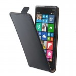 Vertical Flip Magnetic Button Leather Case for Nokia Lumia 830