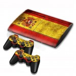 Spainish Flag Pattern Decal Stickers for PS3 Game Console