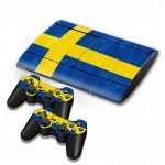 Swidish Flag Pattern Decal Stickers for PS3 Game Console