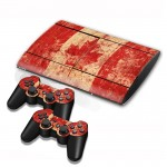 Canadian Flag Pattern Decal Stickers for PS3 Game Console