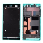 iPartsBuy Front Housing Replacement with Adhesive Sticker for Sony Xperia C3(Green)