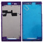 iPartsBuy for Sony Xperia Z Ultra / XL39h / C6802 Front Housing LCD Frame Bezel Plate(Purple)