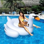 Inflatable Swan Shaped Floating Mat Swimming Ring, Inflated Size: 150 x 150 x 130cm