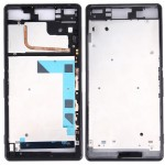 iPartsBuy Front Housing LCD Frame Bezel Plate Replacement for Sony Xperia Z3 / L55w / D6603(Black)
