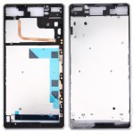 iPartsBuy Front Housing LCD Frame Bezel Plate Replacement for Sony Xperia Z3 / L55w / D6603(White)