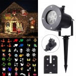 3W Waterproof Creative LED Plug-in Card Lawn Lamp Outdoor Light with Twelve Kinds of Replaceable Patterns
