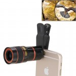 8X Zoom Telescope Telephoto Camera Lens with Clip for iPhone & Samsung & HTC and Other Mobile Phones(Black)
