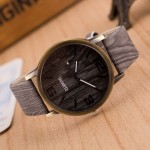 3 Pack Four Digit Wood Imitation Watches For Men And Women (Colour: 02)