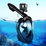 PULUZ 260mm Tube Water Sports Diving Equipment Full Dry Snorkel Mask for GoPro HERO5 /4 /3+ /3 /2 /1, S/M Size(Black)