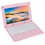 Ordinateur Portable Android Netbook PC 10,1 pouces 1 Go + 8 5.1 ATM7059 Quad Core cadencé à 1,6 GHz BT WiFi HDMI SD RJ45 Rose...