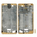 iPartsBuy Front Housing LCD Frame Bezel Plate Replacement for Huawei Ascend Mate 7(Gold)