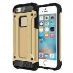 Tough Armor TPU + PC Combination Case for iPhone SE & 5 & 5s(Gold)