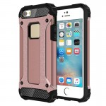 Tough Armor TPU + PC Combination Case for iPhone SE & 5 & 5s(Rose Gold)