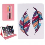 Colorful Feather Pattern Horizontal Flip Leather Case with Holder & Card Slots & Wallet for iPad Pro 9.7 inch