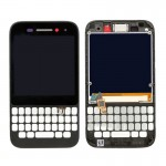 iPartsBuy for BlackBerry Q5 LCD Screen + Touch Screen Digitizer Assembly with Frame(Black)