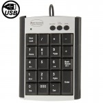 USB Non-synchronous Notebook Computer Multi Function Keypad with 19 Keys