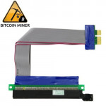 PCI-E Express 16X to 1X Riser Card Adapter Flex Extension Cable