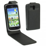 Vertical Flip Leather Case for Huawei U8818 (Ascend G300)