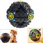 Pet Dog and Cat Food Dispenser Squeaky Giggle Quack Sound Training Toy Chew Ball, Ball Diameter: 11cm