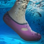 Comfortable and anti-slip 3MM swimming diving socks breathable water to swim the beach socks Size:S (35-36)(Magenta)
