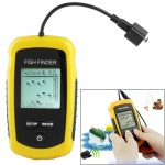 Portable Fish Finder (2.0 inch Display), Depth readings from 2.0 to 328ft (0.6-100m)(Yellow)