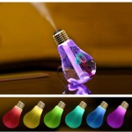 400ML Colorful Light Portable Bulb Shape Aromatherapy Air Purifier Humidifier for Home / Office / Car(Gold)