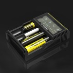 Nitecore D4 Intelligent Digi Smart Charger with LCD Display for 14500, 16340 (RCR123), 18650, 22650, 26650, Ni-MH and Ni-Cd (AA,