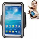 PU Sports Armband Case with Earphone Hole for Samsung Galaxy Mega 6.3 / i9200, Below 6.3 inch Phones(Black)