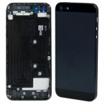 iPartsBuy Original Back Cover for iPhone 5(Black)