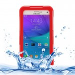 IPX8 TPU + PC Waterproof Protective Case with Lanyard for Samsung Galaxy Note 5 / N920(Red)
