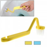 S-shaped Toilet Brush Curved Handle Cleaning Brush Sanitary Cleaning Brush (Random Color Delivery)