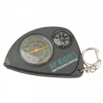 2-in-1 Portable Map Distance Measuring Measurer + Compass with Key Chain for Outdoor Camping Hiking(Black)