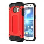 Coque renforcée Galaxy S7 Samsung / G930 Armure robuste TPU + Combinaison PC Case Rouge - wewoo.fr