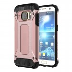 Coque renforcée Galaxy S7 Samsung / G930 robuste TPU + Case Combinaison PC Armure or rose - wewoo.fr