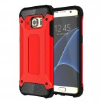 For Samsung Galaxy S7 Edge / G935 Tough Armor TPU + PC Combination Case (Red)