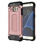 Coque renforcée Galaxy S7 Edge Samsung bord / G935 robuste armure TPU + Case Combinaison PC or rose - wewoo.fr